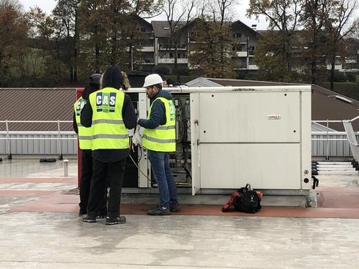 Audit technique d'un appareil de chauffage et climatisation de type roof-top de marque Lennox